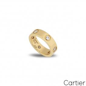 CartierYellow Gold Full Diamond Love Ring Size 51 B4025900